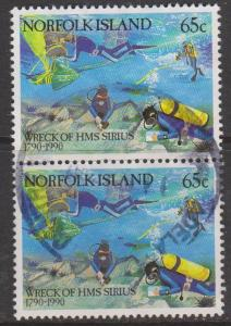 Norfolk Island Sc#473 Used Pair