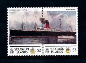 [90533] Solomon Isl.  Ships Minneapolis Ocean Liners Atlantic Transport   MNH