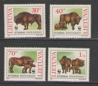 Lithuania Sc 529-32 1996 Bison WWF stamp set mint NH