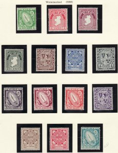 1940 - 1942 Ireland complete set p15x14 Wmk 262 MN-MH Sc# 106 / 117 CV $232.75