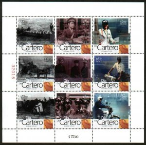 MEXICO 2560, LETTER CARRIERS AND POSTAL EMPLOYEES DAY. SHEET OF 9 MINT, NH. VF.