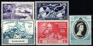 Bahamas #150-53, 157   F-VF Unused CV $6.75 (X947)