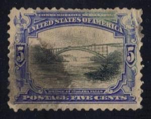 US #297 Bridge at Niagara Falls, used (18.00)