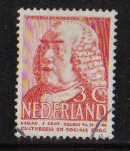 Netherlands  1939 used Cult Welfare 3 + 3 ct red #