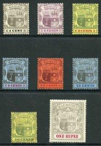 Mauritius SG164/75 1904 set wmk Mult Crown CA (50c used the rest M/Mint)