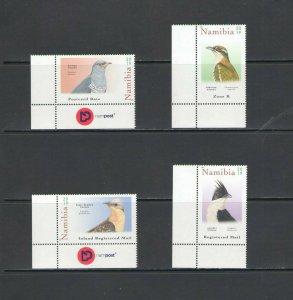 NAMIBIA: 2019 New Issue / *** Beautiful B I R D S ***/ Set  of 4 / MNH