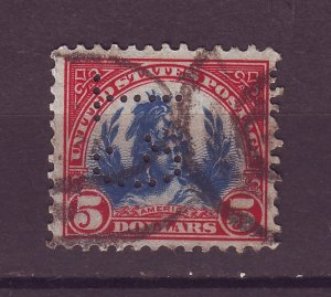 J25112 JLstamps 1922-5 usa perfin hv of set used #573 freedom statue
