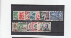 SARAWAK 1955 SET TO $2 USED