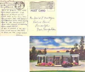 United States Georgia Camp Stewart 1944 machine  DPO  PPC (Main Entrance to C...