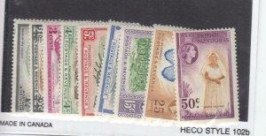 BRITISH HONDURAS # 144-152 VF-MVLH SHORT SET CAT VALUE $32.65