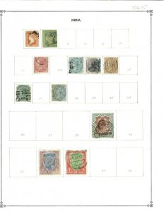 India 1854-1953 mostly Mint hinged & Used on Scott Blank Pages