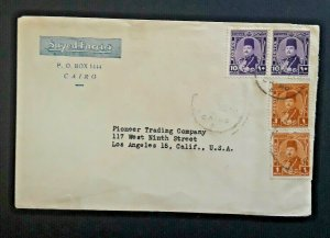 1944 Cairo Egypt To Los Angeles California Multi Franked Cover