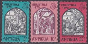 Antigua # 258-260, Christmas - Durer Paintings, NH, 1/3 Cat.