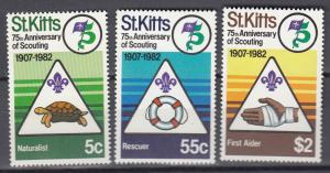 St.Kitts - 1982 Scouting Sc# 99/101 - MNH (370N)