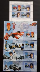 Formula 1 pilots - Congo 2006 - sheet + complete set of 4 ss perforated ** MNH