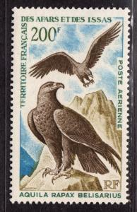 $Affars+Issas Sc#C50 M/NH, Eagles, Cv. $24