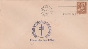 1956 Cuba Stamps Fighting Tuberculosis Hands Protecting Child FDC