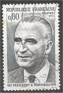 FRANCE, 1975 used 80c, Georges Pompidou, Scott 1430