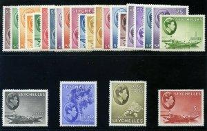 Seychelles 1938 KGVI set complete MLH. SG 135-149.
