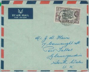 83370 - NIGERIA - POSTAL HISTORY -  AIRMAIL COVER from SAPELE  1956