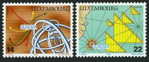 Luxembourg 910-911,MNH.Michel 1340-1341. EUROPE CEPT-1994.Inventions.Sail boat,