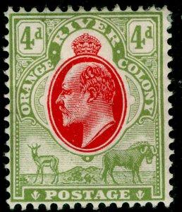 SOUTH AFRICA - Orange Free State SG144, 4d scarlet&sage-grn, M MINT. Cat £38. CA