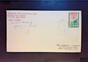 Canada / US 1962 Arctic Operations Cover C/O Signed (I) - Z948