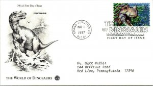 World of Dinosaurs Ceratosaurus First Day Cover 1997 cachet