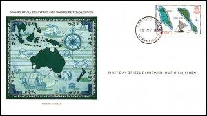 Kiribati 422 Map U/A FDC
