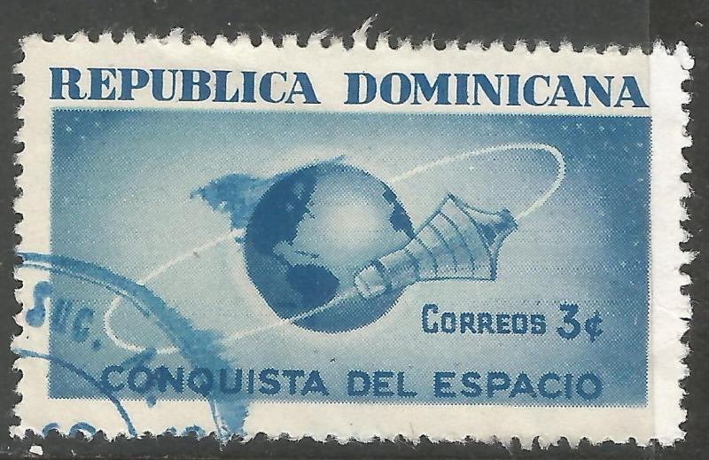 DOMINICAN REPUBLIC 600 VFU SPACE Z2279-4