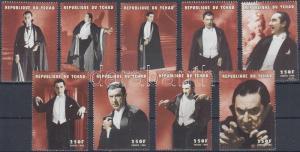 Tchad stamp Bela Lugosi as Dracula set MNH 1998 Mi 1778-1786 WS230094