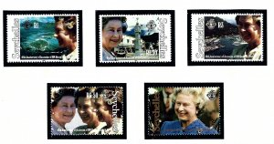 Seychelles 734-38 MNH 1992 QEII 40th anniv of reign