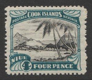 NIUE : 1944 Pictorial 4d, mult star NZ wmk inverted & reversed. MNH **
