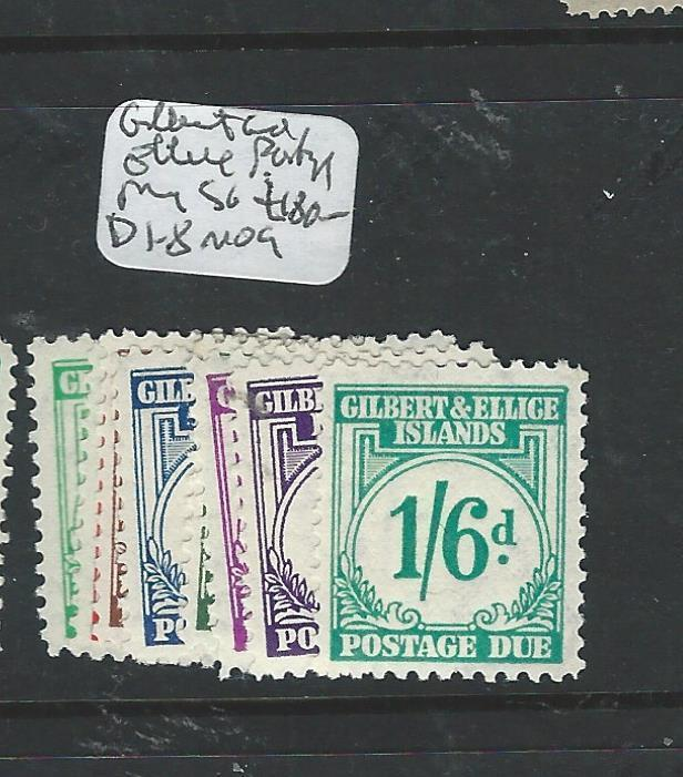 GILBERT AND ELLICE ISLANDS (P0706B)  POSTAGE DUE SGD1-8  MOG