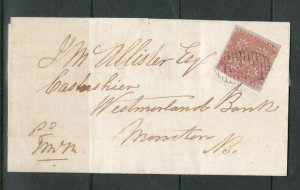 New Brunswick #1 Very Fine Used On Cover To Moncton With #11 Numeral Grid Cancel