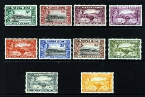SIERRA LEONE KG VI 1938-44 Pictorial Issue Part Set SG 188 to SG 196a MINT