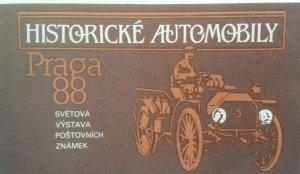 Czechoslovakia 1988 Praga 88 Historic Automobiles Booklet 2950-2951 MNH