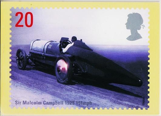 Great Britain. 1998 Speed. PHQ Cards(5) Unused