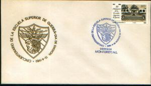 MEXICO 1272, CACHETED FDC 50th Anniversary Military Academy