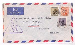 Worldwide Censorship c1958 IRAQ REPUBLIC ISSUES Airmail Cover London NAVAL AD272