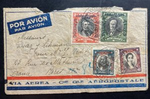 1930 Santiago Chile Early Airmail Cover To Paris France