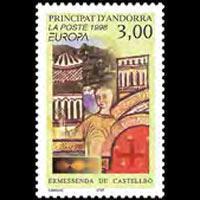 ANDORRA FR. 1996 - Scott# 468 Europa Set of 1 NH