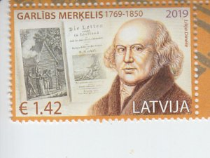 2019 Latvia Garlieb Merkel Writer (Scott NA) MNH
