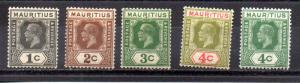Mauritius 179-183 MH