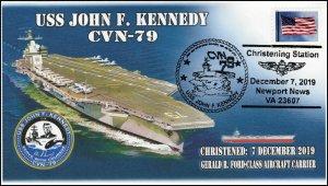 19-348, 2019, USS John F Kennedy, Pictorial Postmark, Event, CVN-79, Newport New