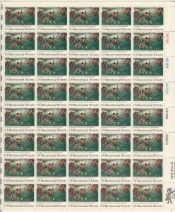 1975 U.S 10¢ Bicentennial' Battle Lexington-Concord complete sheet MNH 1563