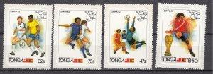 J27597 1982 tonga set mh #509-12 sports