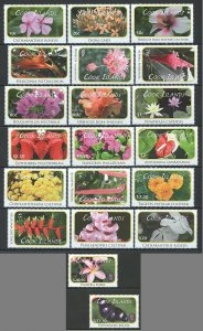 KS COOK ISLANDS FLOWERS BUTTERFLIES #1618-35,1716-17 MICHEL 205 EU 2SET MNH