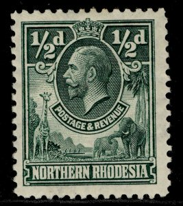 NORTHERN RHODESIA GV SG1, ½d green, M MINT.