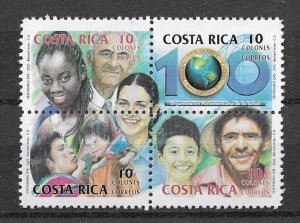 Costa Rica MNH Block 558 Family 2002